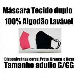Máscara de Proteção 100% Algodão Lavável