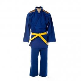Kimono Judô Trançadinho Krav Sports Azul  Adulto